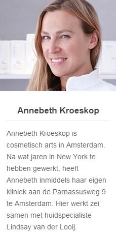 Annebethkroeskop - Cosmetische behandelingen